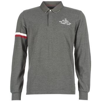 textil Herre Polo-t-shirts m. lange ærmer Serge Blanco BIG BALLON RUGBY Grå / Antracit