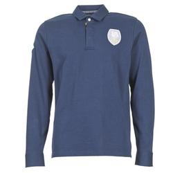 textil Herre Polo-t-shirts m. lange ærmer Serge Blanco ECUSSON COQ Marineblå