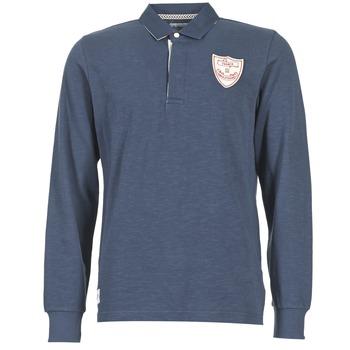 textil Herre Polo-t-shirts m. lange ærmer Serge Blanco CRUNCH Marineblå