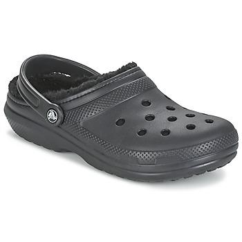 Sko Træsko Crocs CLASSIC LINED CLOG Sort