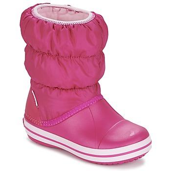 Sko Pige Vinterstøvler Crocs WINTER PUFF BOOT KIDS Pink