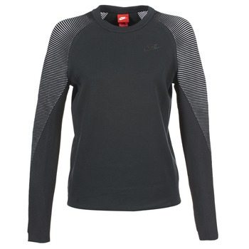 textil Dame Sweatshirts Nike TECH FLEECE CREW Sort