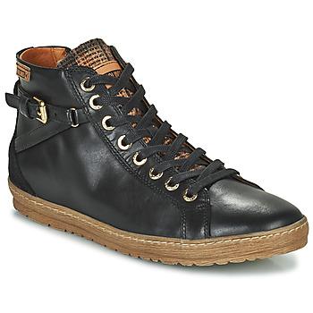 Sko Dame Høje sneakers Pikolinos LAGOS 901 Sort