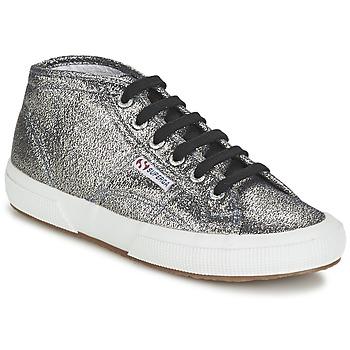 Sko Dame Høje sneakers Superga 2754 LAMEW Sølv