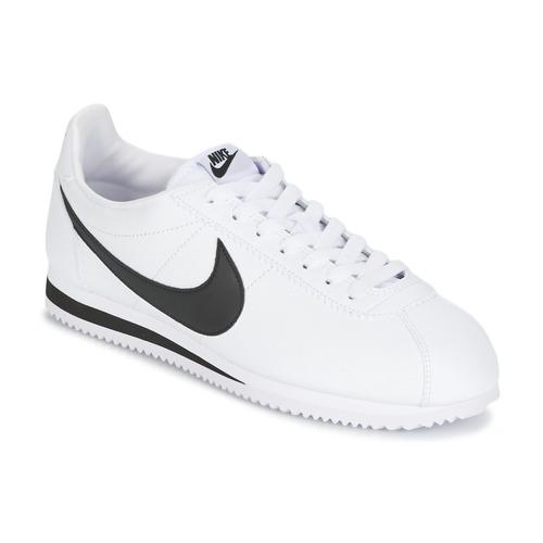 Sko Herre Lave sneakers Nike CLASSIC CORTEZ LEATHER Hvid / Sort