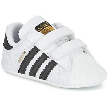 Sko Børn Lave sneakers adidas Originals SUPERSTAR CRIB Hvid