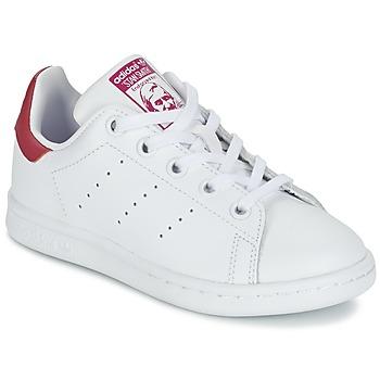 Sko Pige Lave sneakers adidas Originals STAN SMITH EL C Hvid / Pink