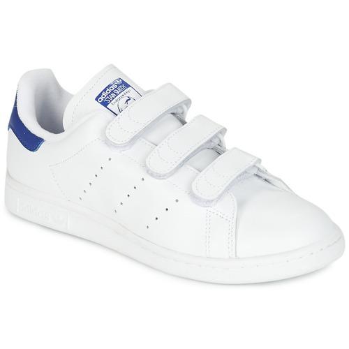 aba1975d7ed9 Sko Lave sneakers adidas Originals STAN SMITH CF Hvid   Blå