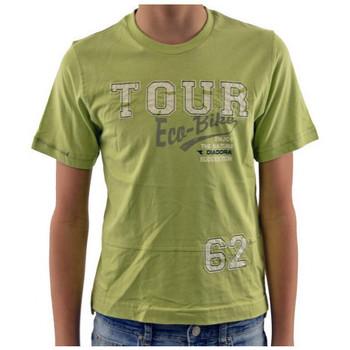 textil Børn T-shirts m. korte ærmer Diadora  Grøn