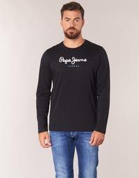 textil Herre Langærmede T-shirts Pepe jeans EGGO LONG Sort