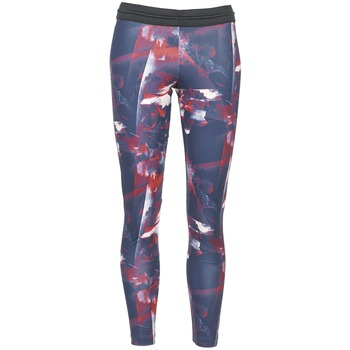 textil Dame Leggings adidas Originals FLOWER TIGHT Blå / Pink