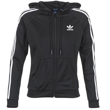 textil Dame Sportsjakker adidas Originals SLIM FZ HOODIE Sort
