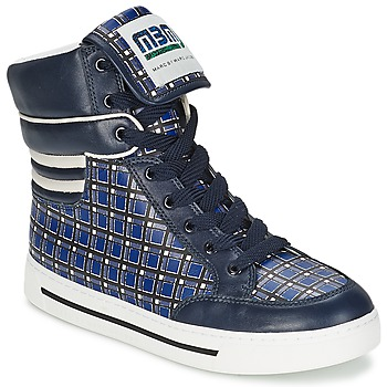 Sko Dame Høje sneakers Marc by Marc Jacobs CUTE KIDS MINI TOTO PLAID Blå / Flerfarvet