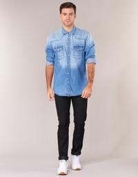 textil Herre Smalle jeans Lee RIDER Sort
