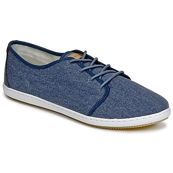 Sko Herre Lave sneakers Lafeyt DERBY HEAVY CANVAS Marineblå