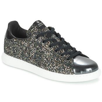 Sko Dame Lave sneakers Victoria DEPORTIVO BASKET GLITTER Sort