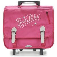 Tasker Pige Rygsække / skoletasker med hjul Ikks LOVE IKKS TROLLEY CARTABLE 41CM Pink