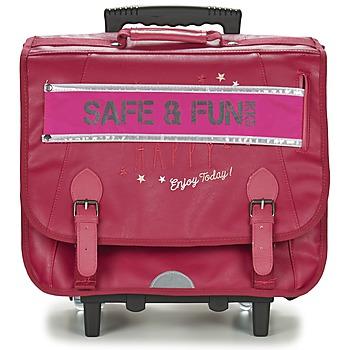 Tasker Pige Rygsække / skoletasker med hjul Ikks HAPPY TROLLEY CARTABLE 41CM Pink