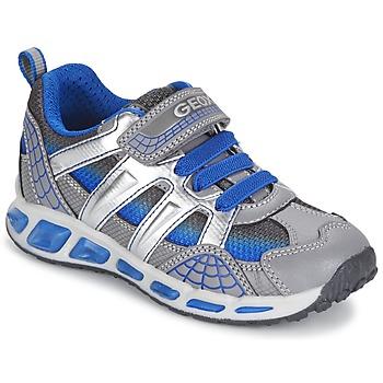 Sko Dreng Lave sneakers Geox SHUTTLE BOY Grå / Blå