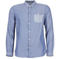 textil Herre Skjorter m. lange ærmer Tom Tailor INIDULLE Blå