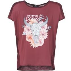 textil Dame T-shirts m. korte ærmer Le Temps des Cerises CRANEFLO BORDEAUX