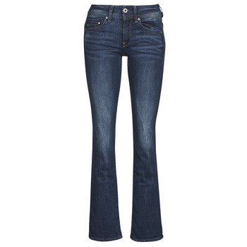 textil Dame Bootcut jeans G-Star Raw MIDGE SADDLE MID BOOTLEG Neutral / Stretch / Denim / Mørk / Ældet