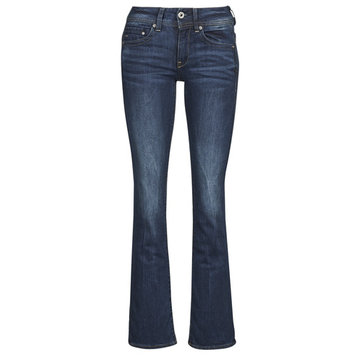 textil Dame Bootcut jeans G-Star Raw MIDGE SADDLE MID BOOTLEG Neutral / Stretch / Denim / Mørk / Ældet