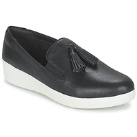 Sko Dame Slip-on FitFlop TASSEL SUPERSKATE Sort