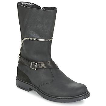Sko Pige Chikke støvler Ikks FLORA Sort