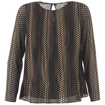 textil Dame Toppe / Bluser MICHAEL Michael Kors OMBOBO Sort / Beige