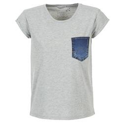 textil Dame T-shirts m. korte ærmer Mustang SLV DENIM POCKET Grå