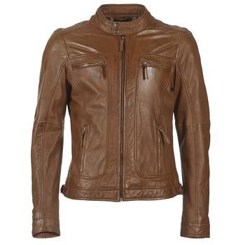textil Herre Jakker i læder / imiteret læder Oakwood 60901 Cognac