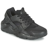 Sko Dreng Lave sneakers Nike HUARACHE RUN JUNIOR Sort