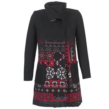 textil Dame Frakker Desigual JEFINITE Sort / Rød