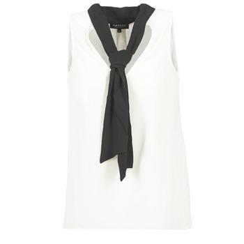 textil Dame Toppe / Bluser Morgan OREA Hvid / Sort