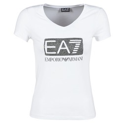textil Dame T-shirts m. korte ærmer Emporio Armani EA7 FOUNAROLA Hvid
