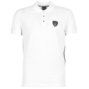 textil Herre Polo-t-shirts m. korte ærmer Emporio Armani EA7 ONTRAFOL Hvid