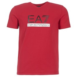 textil Herre T-shirts m. korte ærmer Emporio Armani EA7 MOFRAGO Rød