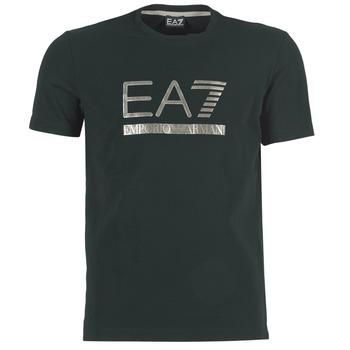 textil Herre T-shirts m. korte ærmer Emporio Armani EA7 MAGGAROL Sort