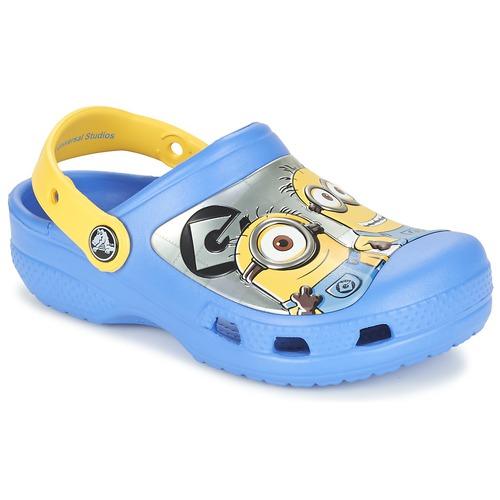 Sko Børn Træsko Crocs CC Minions Clog Blå / Gul