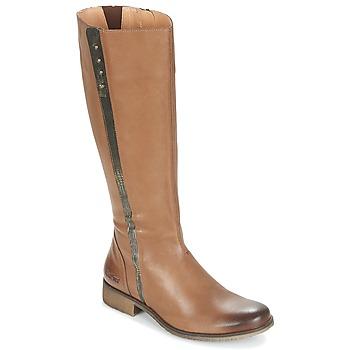 Sko Dame Chikke støvler Kickers LONGBOTTE Brun / Guld
