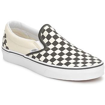 Sko Slip-on Vans CLASSIC SLIP ON Sort / BEIGE