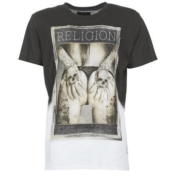 textil Herre T-shirts m. korte ærmer Religion GRABBING Hvid / Sort