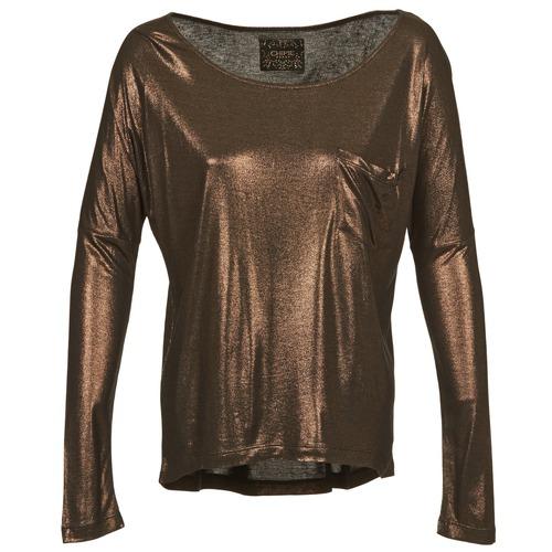 textil Dame Langærmede T-shirts Chipie NINON Gylden