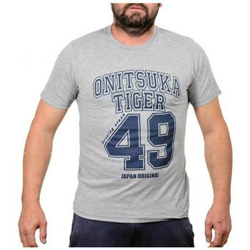 textil Herre T-shirts m. korte ærmer Onitsuka Tiger  Grå