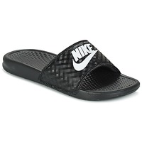 Sko Dame badesandaler Nike BENASSI JUST DO IT W Sort / Hvid