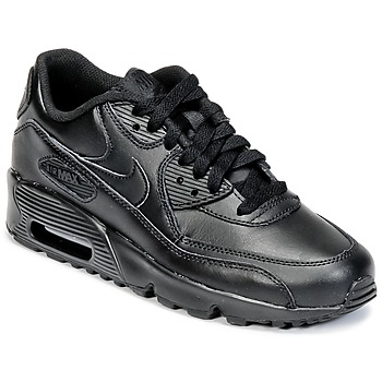 Sko Børn Lave sneakers Nike AIR MAX 90 LEATHER GRADE SCHOOL Sort