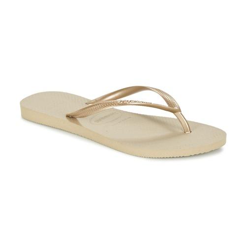 Sko Dame Flip flops Havaianas SLIM Gylden