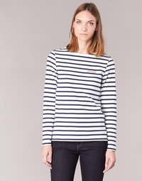 textil Dame Langærmede T-shirts Betty London IFLIGEME Hvid / Blå