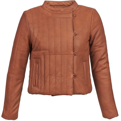 textil Dame Jakker i læder / imiteret læder Antik Batik YOANN Cognac